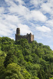 在莱茵河谷的城堡Maus 库存图片