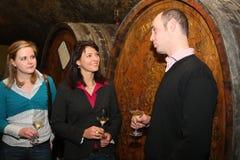 在莱茵高地区的品酒 免版税库存照片