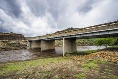 在莱索托山的桥梁 库存图片