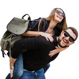 在获得的爱的一对夫妇乐趣 库存照片
