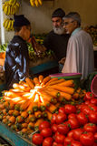 在菜市场上在索维拉,摩洛哥 库存照片