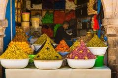 在菜市场上在索维拉,摩洛哥 免版税库存照片