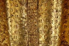 在菩萨雕象的纹理在Wat Pho 免版税库存照片