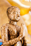在菩萨雕象的选择聚焦点在泰国 免版税库存图片