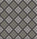 在菱形的无缝的被编织的样式 库存照片