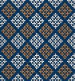 在菱形的无缝的被编织的样式 免版税库存图片