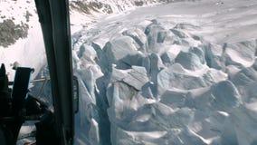 在菲尼斯照片雪采取的观点附近的空中飞机亚利桑那山 股票视频