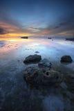 在菲律宾日落的美丽的bohol 免版税库存照片