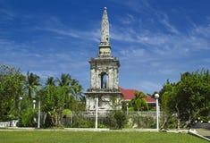 在菲律宾海岛的历史麦哲伦纪念碑 库存图片