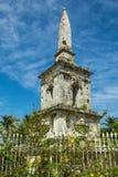 在菲律宾海岛的麦哲伦纪念碑 库存图片