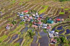 在菲律宾的山的暗藏的jem, Batad 免版税图库摄影