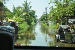 洪水在菲律宾 免版税库存图片