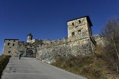 在菲拉赫,奥地利附近的Landskron城堡 图库摄影