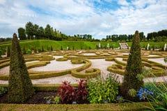 在菲特列堡城堡附近的巴洛克式的庭院 库存图片