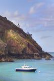 在萨克岛的沿海场面 免版税图库摄影