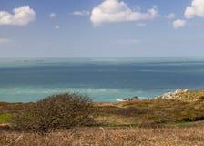 在萨克岛的沿海场面 图库摄影