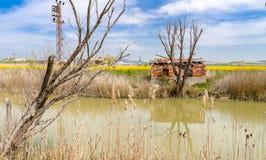 在萨卡里亚河附近的砖村庄在波拉特勒,安卡拉,土耳其附近 免版税库存图片