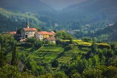 在萨塞洛村庄的全景 免版税库存照片