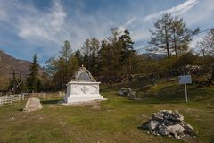 在萨彦岭的Arshan在Buriatya,西伯利亚-俄罗斯 免版税库存照片