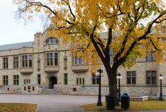 在萨斯喀彻温大学的学院大厦 免版税库存图片