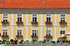 在萨格勒布上街道,克罗地亚 免版税库存照片