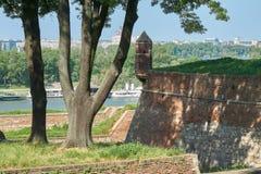 在萨瓦河和贝尔格莱德的看法 库存图片