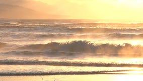 在落下的波浪的飘渺光 股票视频