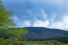 在落矶山脉山麓小丘的暴风云 免版税库存照片