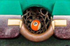 在落袋撞球的球13 免版税图库摄影