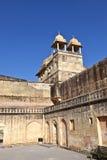 在著名琥珀色的堡垒里面在斋浦尔,印度 免版税库存图片