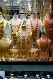 在著名金黄souk的金子在迪拜 库存照片