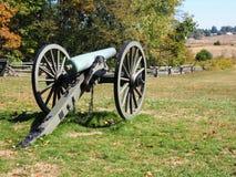 在葛底斯堡战场的大炮 免版税图库摄影