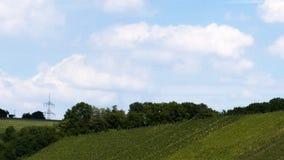 在葡萄园时间间隔的云彩 影视素材