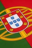 在葡萄牙的旗子的细节 免版税库存图片