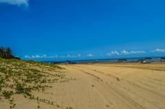 在葡萄牙语Islan附近的Inhaca海岛,一个美丽的海岛村庄 库存照片