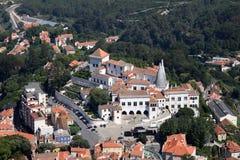 在葡萄牙sintra视图的天线 免版税库存照片