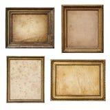 在葡萄酒土气木框架汇集isol的老羊皮纸 免版税库存图片