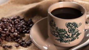 在葡萄酒杯子的传统东方海南咖啡 股票录像