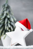 在葡萄酒样式的圣诞节背景 2007个看板卡招呼的新年好 免版税库存图片