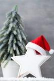 在葡萄酒样式的圣诞节背景 2007个看板卡招呼的新年好 图库摄影