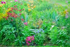 在葡萄酒样式的花Garden.vector花卉背景 免版税库存图片