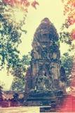 在葡萄酒样式的Wat Phra Mahathat寺庙 免版税库存图片