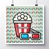 在葡萄酒样式background_38的食物icons_poster 免版税库存照片