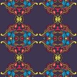 在葡萄酒窗框的色的repited样式 向量例证