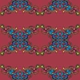在葡萄酒窗框的色的repited样式 皇族释放例证