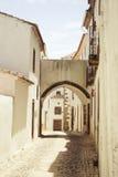 在葡萄酒颜色的农村街道 免版税库存照片