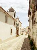 在葡萄酒颜色的农村街道 库存图片