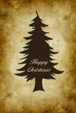 在葡萄酒theame的愉快的圣诞节 免版税库存照片