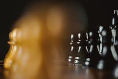 在董事会的棋子 库存图片