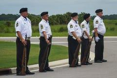 在葬礼的美国退伍军人协会 库存图片